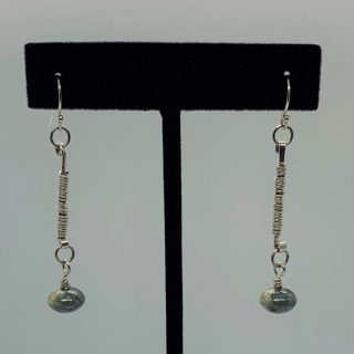 Sterling Silver Wire Wrapped Dangle Earrings