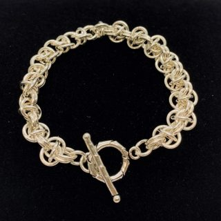 Sterling Silver Orbital Chain Maille Bracelet on Shop Where I Live